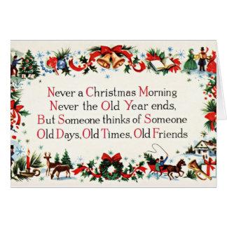 Vintage Christmas Poem Card