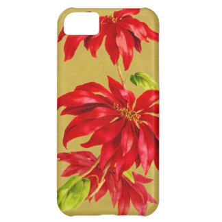 Vintage Christmas Poinsettia iPhone 5C Case