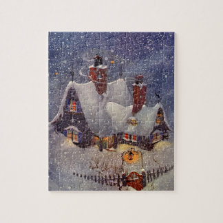 Vintage Christmas, Santa Claus Workshop North Pole Jigsaw Puzzle