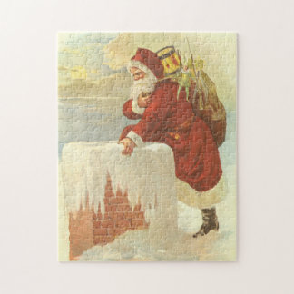 Vintage Christmas Victorian Santa Claus in Chimney Jigsaw Puzzle