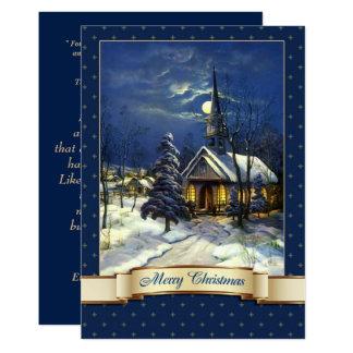 Vintage Church Design Religious Christmas Cards