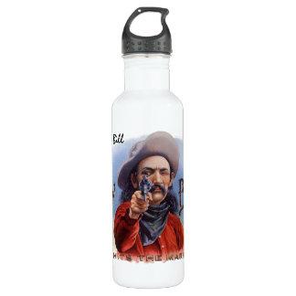 Vintage Cigar Label Art, Cowboy Hits the Mark 710 Ml Water Bottle