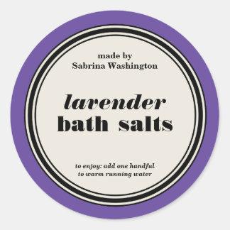 Vintage Circle Frame Bath Salts Label Template