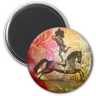 Vintage Circus 6 Cm Round Magnet