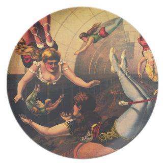 Vintage Circus Acrobats Plate