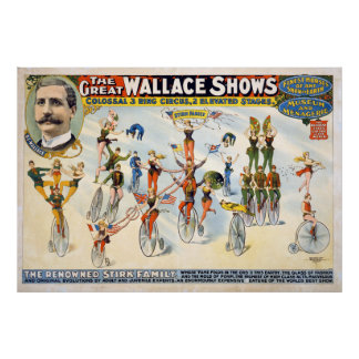 Vintage Circus Act The Great Wallace Shows Poster