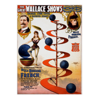 Vintage Circus Act The Great Wallace Shows Stunt Poster