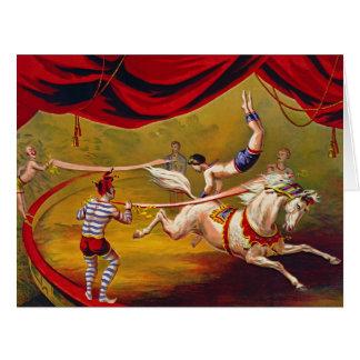 Vintage Circus Ad 1875 Big Greeting Card