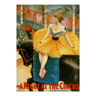 Vintage Circus Advertisement 1893 Poster