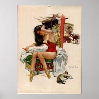 Vintage Circus Babe Poster