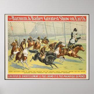 Vintage : circus Barnum & Bailey - Poster