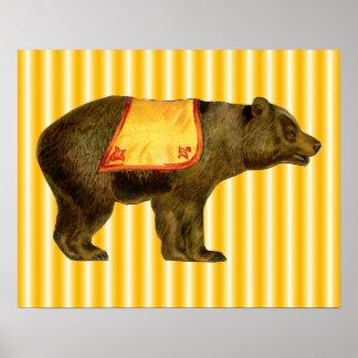 vintage circus bear poster