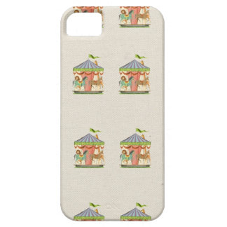 Vintage circus carousel horses retro horse pattern iPhone 5 case
