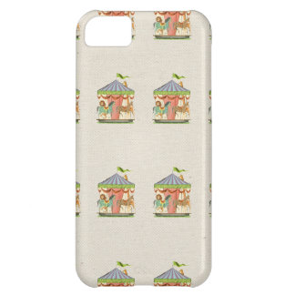 Vintage circus carousel horses retro horse pattern cover for iPhone 5C