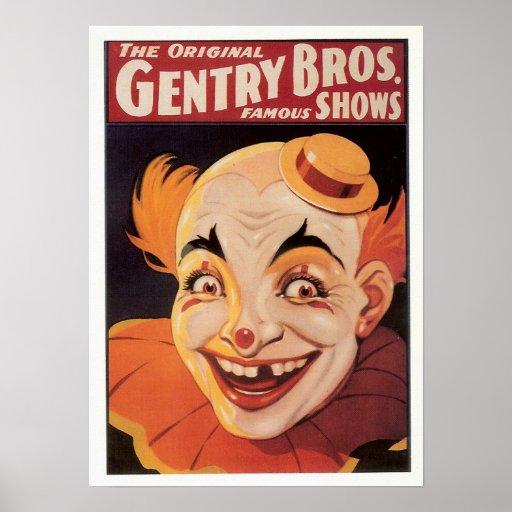 Vintage Circus Clown Poster