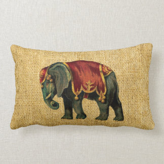 Vintage Circus Elephant and Bear Cushions