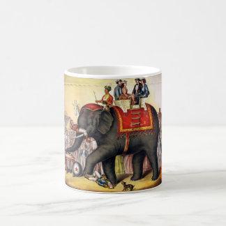 Vintage Circus Elephant Basic White Mug