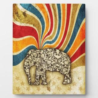 Vintage Circus Elephant Big Top Display Plaques