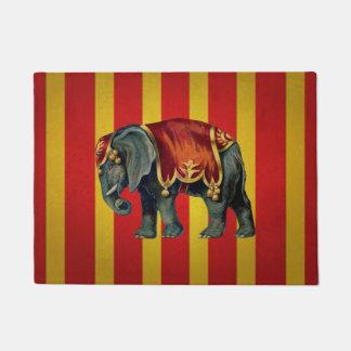 vintage circus elephant doormat