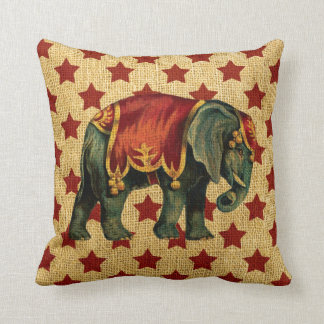 Vintage Circus Elephant on Stars Cushions