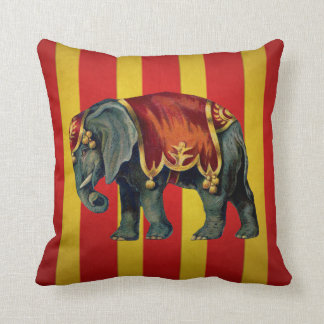 vintage circus elephant pillow