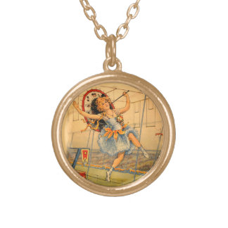 Vintage Circus Girl Necklace