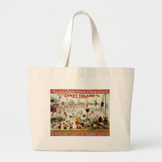 Vintage Circus Greatest Show On Earth Canvas Bag