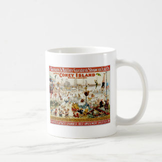 Vintage Circus Greatest Show On Earth Basic White Mug