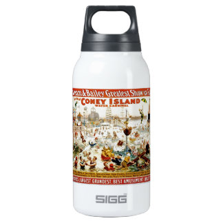 Vintage Circus Greatest Show On Earth Insulated Water Bottle