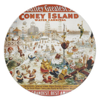 Vintage Circus Greatest Show On Earth Dinner Plates