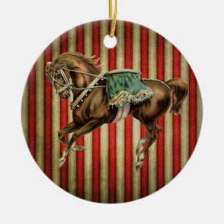 vintage circus horse round ceramic decoration