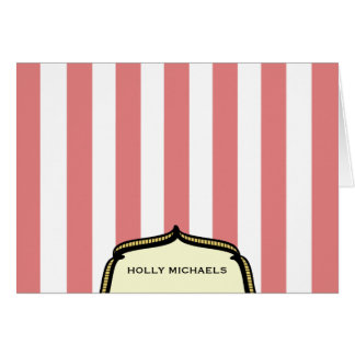 Vintage Circus Inspired Notecard Cards