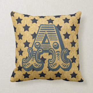 Vintage Circus Letter A Throw Cushions
