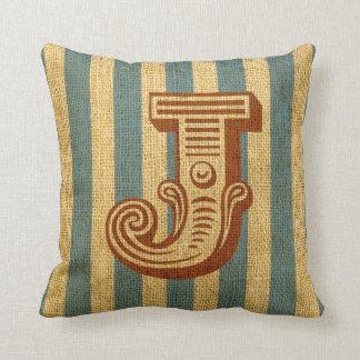 Vintage Circus Letter J Pillows