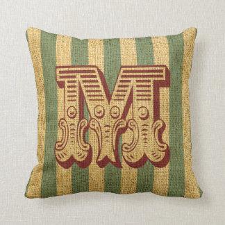 Vintage Circus Letter M Pillows