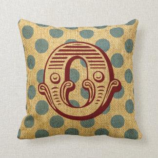 Vintage Circus Letter O Pillows