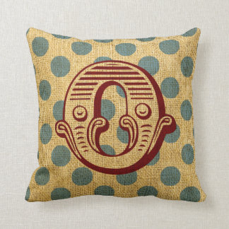 Vintage Circus Letter O Throw Cushion