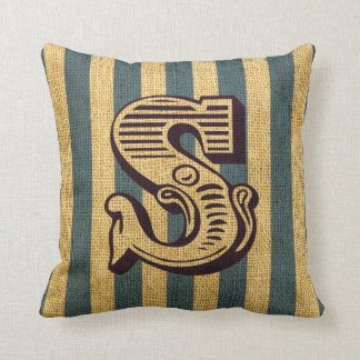 Vintage Circus Letter S Cushion