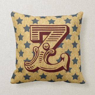 Vintage Circus Letter Z Pillows
