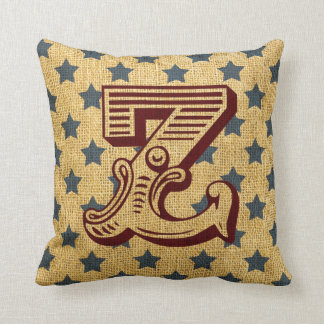 Vintage Circus Letter Z Throw Cushion