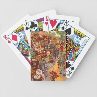 Vintage Circus Parade Festive Fun Playing Cards