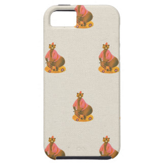 Vintage circus performing bears linen bear pattern iPhone 5 covers
