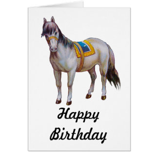 Vintage Circus Pony Greeting Card