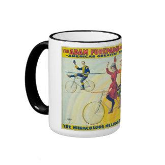 Vintage Circus Poster Ringer Mug