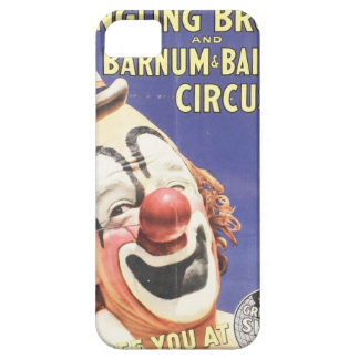 Vintage Circus Poster with Intense Looking Clown iPhone 5 Covers