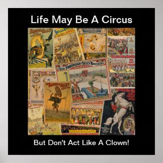 Vintage Circus Print Poster