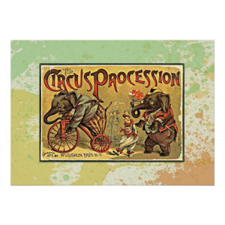 Vintage Circus Procession Poster