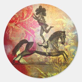 Vintage Circus Round Sticker