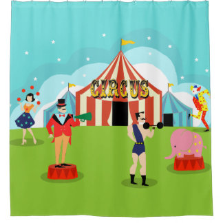 Vintage Circus Shower Curtain