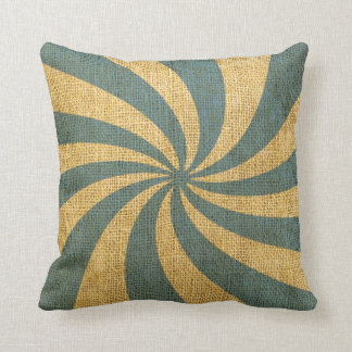 Vintage Circus Spiral Blue Throw Cushions